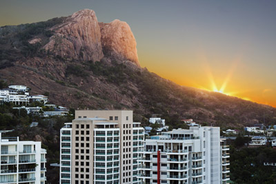 Photo: Sunset looking towards Castle Hill Townsville